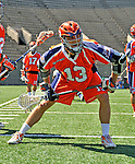 23 August 2008: Philadelphia Barrage Attackman Jed Prossner warms up prior to facing the Rochester Rattlers during the Semi-Finals of the Major League Lacrosse Championship Weekend at Harvard Stadium in Boston, MA. The Rattlers defeated the Barrage 16-15 in sudden death overtime, advancing to the upcoming Championship Game...Mandatory Photo Credit: Ed Wolfstein Photo