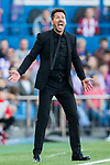 Coach Diego Simeone of Atletico de Madrid reacts during their La Liga match between Atletico de Madrid and Sevilla FC at the Estadio Vicente Calderon on 19 March 2017 in Madrid, Spain. Photo by Diego Gonzalez Souto / Power Sport Images