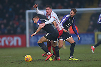 Mark McKee of Stevenage and Oliver Lee of Luton Town during Stevenage vs Luton Town, Sky Bet EFL League 2 Football at the Lamex Stadium on 10th February 2018