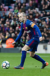 Andres Iniesta Lujan of FC Barcelona in action during the La Liga 2017-18 match between FC Barcelona and Getafe FC at Camp Nou on 11 February 2018 in Barcelona, Spain. Photo by Vicens Gimenez / Power Sport Images