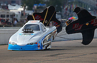 Aug 16, 2014; Brainerd, MN, USA; NHRA top alcohol funny car driver Shane Westerfield during qualifying for the Lucas Oil Nationals at Brainerd International Raceway. Mandatory Credit: Mark J. Rebilas-