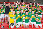 Kerry celebrate after defeating Westmeath in the Allianz Hurling League Division 2A Final, Westmeath v Kerry. Gaelic Grounds, Limerick, Saturday 4th April 2015.