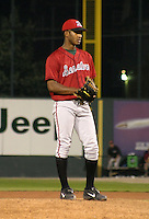 August 20, 2003:  Emmanual Ulloa of the Harrisburg Senators during a game at Jerry Uht Park in Erie, Pennsylvania.  Photo by:  Mike Janes/Four Seam Images