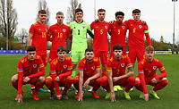 16th November 2019; Leckwith Stadium, Cardiff, Glamorgan, Wales; European Championship Under 19 2020 Qualifiers, Russia under 19s versus Wales under 19s; Wales Under 19 players group for a photo before the game - Editorial Use