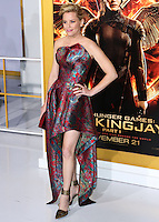 LOS ANGELES, CA, USA - NOVEMBER 17: Elizabeth Banks arrives at the Los Angeles Premiere Of Lionsgate's 'The Hunger Games: Mockingjay, Part 1' held at Nokia Theatre L.A. Live on November 17, 2014 in Los Angeles, California, United States. (Photo by Xavier Collin/Celebrity Monitor)