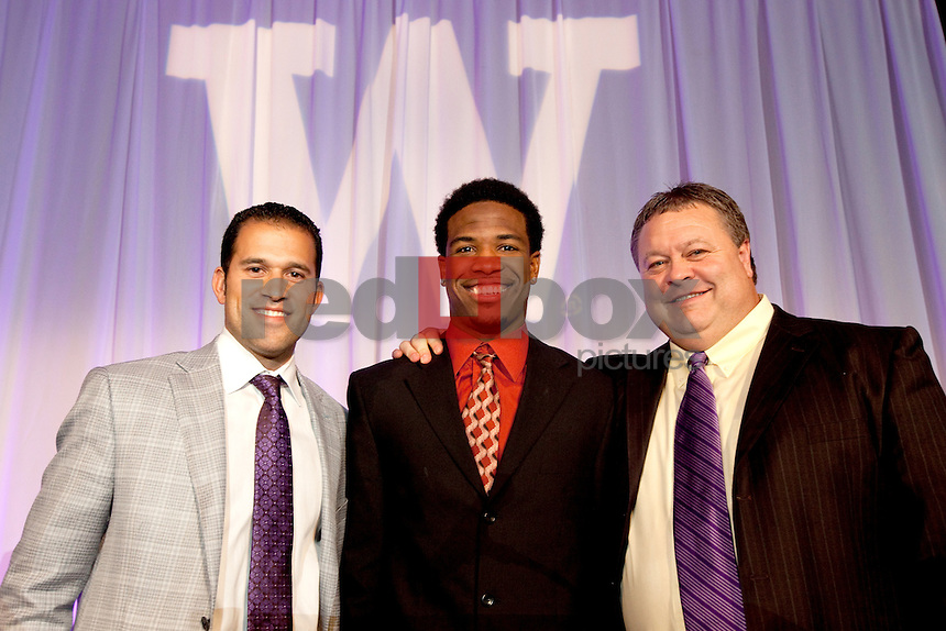Mike Cox. Nick Glant. Keith Price. The University of Washington football team held their year end banquet at the Westin Hotel in Seattle on Sunday December 4, 2011. (Photography By Scott Eklund/Red Box Pictures)