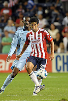 Chivas Guadalajara midfielder Edgar Mejia (20) in action... Sporting Kansas City and Chivas Guadalajara played to a 2-2 tie in an international friendly at LIVESTRONG Sporting Park, Kansas City, Kansas.