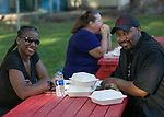 Crystal Leeborba-Harvey and Shawn Lee during Sizzling Saturdays Food Truck event in Sparks on Saturday, July 20, 2019.