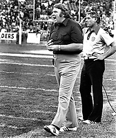 Oakland Raider coach John Madden on the sideline. (1978 photo/Ron Riesterer)