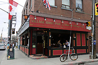 Toronto (ON) CANADA,  April , 2008-..Village Idiot Pub - L'Idiot du Village pub on Dundas street near Chinatown..