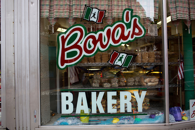 Bova's Bakery on Salem Street offers homemade Italian cookies and fresh bread in the North End of Boston, Massachusetts, USA.