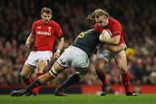2nd December 2017, Principality Stadium, Cardiff, Wales; Autumn International Rugby Series, Wales versus South Africa; Kristian Dacey of Wales is tackled by Lood de Jager of South Africa