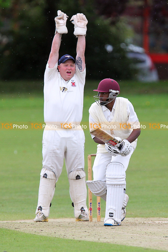 Paul Murray of Hornchurch appeals for the wicket of Jamal Francis - Hornchurch CC vs Romford & Gidea Park CC - Essex Cricket League at Harrow Lodge - 15/06/13 - MANDATORY CREDIT: Gavin Ellis/TGSPHOTO - Self billing applies where appropriate - 0845 094 6026 - contact@tgsphoto.co.uk - NO UNPAID USE