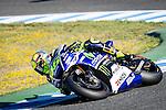 Jerez Circuit. Jerez de la Frontera. 04.05.2014. The rider Valentino Rossi during the MotoGP race in Jerez.