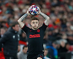 Kieran Trippier of Atletico Madrid taking a throw in during the UEFA Champions League match at Anfield, Liverpool. Picture date: 11th March 2020. Picture credit should read: Darren Staples/Sportimage