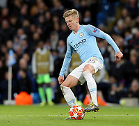 Manchester City's Oleksandr Zinchenko<br /> <br /> Photographer Rich Linley/CameraSport<br /> <br /> UEFA Champions League Round of 16 Second Leg - Manchester City v FC Schalke 04 - Tuesday 12th March 2019 - The Etihad - Manchester<br />  <br /> World Copyright © 2018 CameraSport. All rights reserved. 43 Linden Ave. Countesthorpe. Leicester. England. LE8 5PG - Tel: +44 (0) 116 277 4147 - admin@camerasport.com - www.camerasport.com