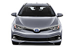 Car photography straight front view of a 2018 Toyota Auris Touring Sports Lounge 5 Door Wagon