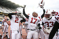 11 November 2006: Michael Miller, Nick Sanchez, Carlos McFall, Peter Griffin, and Jason Evans during Stanford's 20-3 win over the Washington Huskies in Seattle, WA.