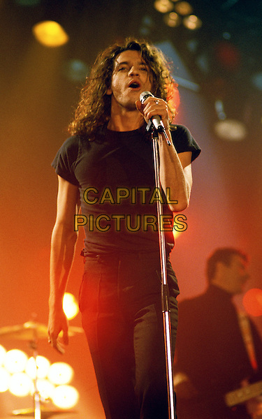 MICHAEL HUTCHENCE.inxs, live, concert, stage, singing, gig.Ref: 026.www.capitalpictures.com.sales@capitalpictures.com.© Capital Pictures.