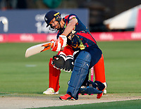 Heino Kuhn bats for Kent during the T20 Quarter-Final game between Kent Spitfires and Lancashire Lightning at the St Lawrence ground, Canterbury, on Aug 23, 2018.