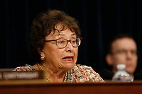 Chair of the House Appropriations Committee Nita Lowey (Democrat of New York) was critical of the manner in which United States Attorney General William Barr handled the release of Special Counsel Robert Mueller's report on the investigation into President Donald Trump during her opening statements on April 9, 2019. Photo Credit: Stefani Reynolds/CNP/AdMedia