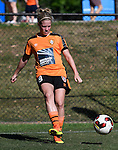BRISBANE, AUSTRALIA - OCTOBER 30: Natalie Tathem of the Roar warms up before the round 1 Westfield W-League match between the Brisbane Roar and Sydney FC at Spencer Park on November 5, 2016 in Brisbane, Australia. (Photo by Patrick Kearney/Brisbane Roar)