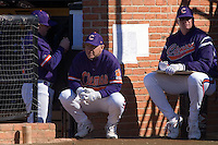 Clemson Tigers head coach Jack Leggett (7) watches the action versus the Wake Forest Demon Deacons during the second game of a double header at Gene Hooks Stadium in Winston-Salem, NC, Sunday, March 9, 2008.