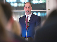 06 February 2017 - Prince William Duke of Cambridge at The Guild of Health Writers Conference with Heads Together held at Chandos House in London. The Guild of Health Writers is an independent membership organisation representing many of Britain's leading health journalists and writers and encompassing the whole spectrum of health and wellbeing. Photo Credit: ALPR/AdMedia