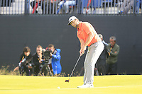 Jon Rahm (ESP) putts on the 12th green during Thursday's Round 1 of the 148th Open Championship, Royal Portrush Golf Club, Portrush, County Antrim, Northern Ireland. 18/07/2019.<br /> Picture Eoin Clarke / Golffile.ie<br /> <br /> All photo usage must carry mandatory copyright credit (© Golffile | Eoin Clarke)
