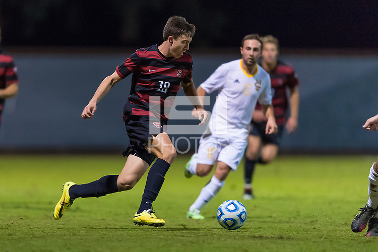 STANFORD, CA - November 23, 2014: Bobby Edwards during the Stanford vs UC Irvine NCAA first round tournament men's soccer match in Stanford, California.  The Anteaters defeated the Cardinal in overtime 1-0.