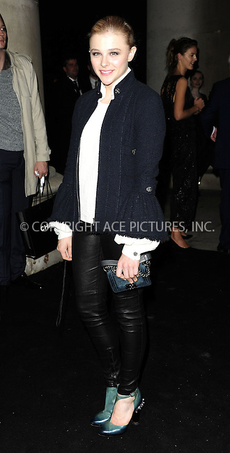 WWW.ACEPIXS.COM....US Sales Only....October 11 2012, New York City....Chloe Moretz at 'The Little Black Jacket' Exhibition Party on October 11 2012 in London....By Line: Famous/ACE Pictures......ACE Pictures, Inc...tel: 646 769 0430..Email: info@acepixs.com..www.acepixs.com