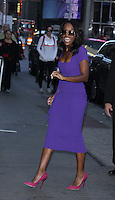 NEW YORK, NY-October 07:Aja Naomi King at Good Morning America to talk about new movie The Birth of a Nation in New York.October 07, 2016. Credit:RW/MediaPunch