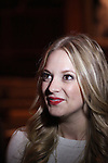 """Actress Jenni Barber attends press event to introduce the cast and creators of the new Broadway play """"The Performers""""at the Hard Rock Cafe on Tuesday, Sept. 25, 2012 in New York."""