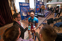 Picture by Allan McKenzie/SWpix.com - 25/09/2017 - Rugby League - Super League Dream Team 2017 - Aspire, Leeds, England - Luke Gale is interviewed.