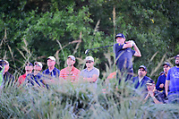 Mackenzie Hughes (CAN) watches his tee shot on 10 during round 2 of the Shell Houston Open, Golf Club of Houston, Houston, Texas, USA. 3/31/2017.<br /> Picture: Golffile | Ken Murray<br /> <br /> <br /> All photo usage must carry mandatory copyright credit (&copy; Golffile | Ken Murray)