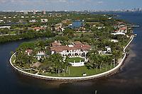 large mansion, aerial view, Gables Estates,  Miami, FL