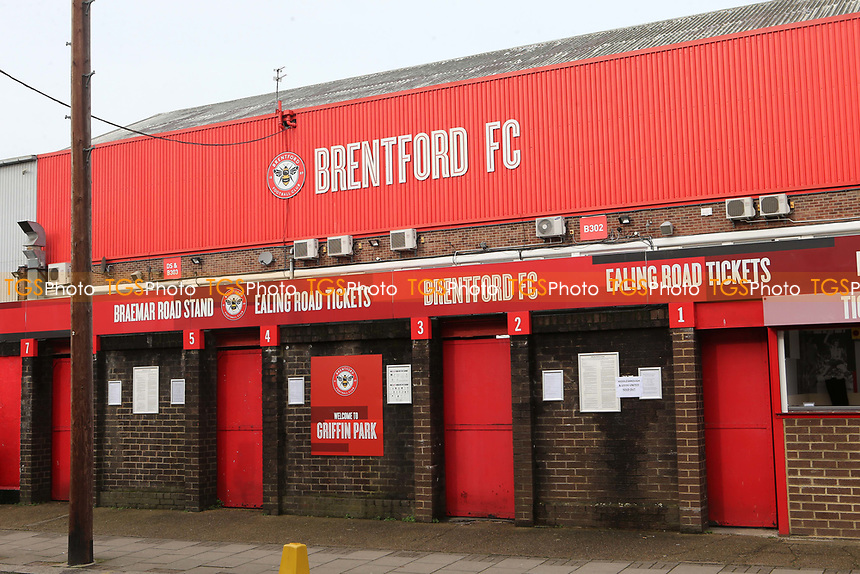 General view of the main entrance at Brentford FC during Brentford vs Middlesbrough, Sky Bet EFL Championship Football at Griffin Park on 8th February 2020