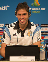 Jose Maria Basanta of Argentina smiles during the press conference