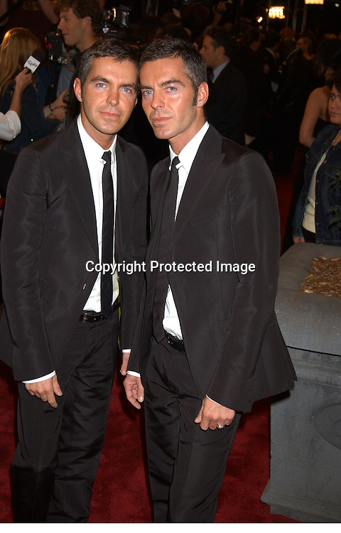"Dan and Dean Caten  of D2                               ..at the Eighth Annual GQ "" Men of the Year "" Awards on ..Spike TV on October 21, 2003 at the Regent Wall Street  ..in New York City. Photo by Robin Platzer, Twin Images"