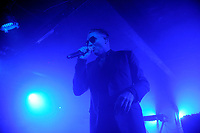 LONDON, ENGLAND - DECEMBER 1: Douglas McCarthy of 'Nitzer Ebb' performing at Electrowerkz' on December 1, 2018 in London, England.<br /> CAP/MAR<br /> &copy;MAR/Capital Pictures