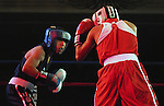 8 June 2007:    Luis Yanez (Blue), Duncanville, Texas and Daniel Lazano (Red), Bowling Green, Florida complete for the Light Flyweight crown at the 2007 U.S. Boxing Championships.  Yanez won the championship by decision at the Antlers Hotel,  Colorado Springs, Colorado.