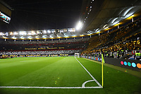 Choreographie der Eintracht Fans - 07.03.2019: Eintracht Frankfurt vs. Inter Mailand, UEFA Europa League, Achtelfinale, Commerzbank Arena, DISCLAIMER: DFL regulations prohibit any use of photographs as image sequences and/or quasi-video.