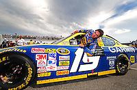 Jul. 4, 2008; Daytona Beach, FL, USA; NASCAR Sprint Cup Series driver Elliott Sadler during qualifying for the Coke Zero 400 at Daytona International Speedway. Mandatory Credit: Mark J. Rebilas-