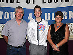 Kenny Breen from Hillview celebrating his 21st birthday in the Star and Crescent with parents Bernard and Eileen. Photo: Colin Bell/pressphotos.ie