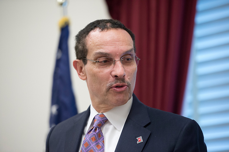 "UNITED STATES - MAY 29: DC Mayor Vincent Gray speaks during the news conference to oppose ""Republican riders targeting D.C.'s home-rule authority,"" on Tuesday, May 29, 2012. (Photo By Bill Clark/CQ Roll Call)"