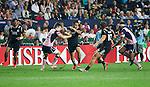 Beaudein Waaka. Hong Kong Sevens, 27 March 2015. NZ beat Scotland in game one 26-7. Photo: Marc Weakley