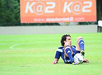 SÃO PAULO. SP 09/05/2014. TREINO PALMEIRAS - O atacante Diogo durante o treino desta manhã na Academia de Futebol região Oeste nesta Sexta-Feira 09  ( Foto : Bruno Ulivieri / Brazil Photo Press )