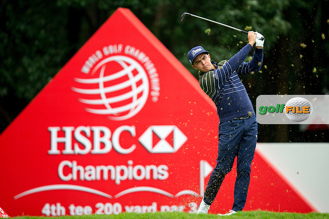 Rickie Fowler (USA) on the 4th tee during round 2 at the WGC-HSBC Champions, Sheshan International GC, Shanghai, China PR.  28/10/2016<br /> Picture: Golffile | Fran Caffrey<br /> <br /> <br /> All photo usage must carry mandatory copyright credit (&copy; Golffile | Fran Caffrey)