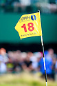 A pin flag in action during the final round of the 143rd Open Championship played at Royal Liverpool Golf Club, Hoylake, Wirral, England. 17 - 20 July 2014 (Picture Credit / Phil Inglis)