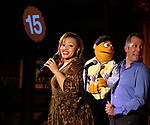 Carmen Ruby Ffloy and John Tartaglia during the 'Avenue Q' 15th Anniversary Reunion Concert at Feinstein's/54 Below on July 30, 2018 in New York City.